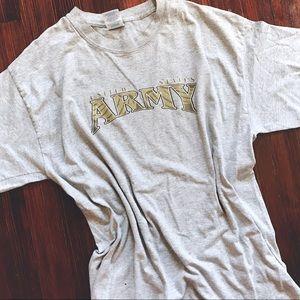2PP VINTAGE // light gray US army logo T-shirt